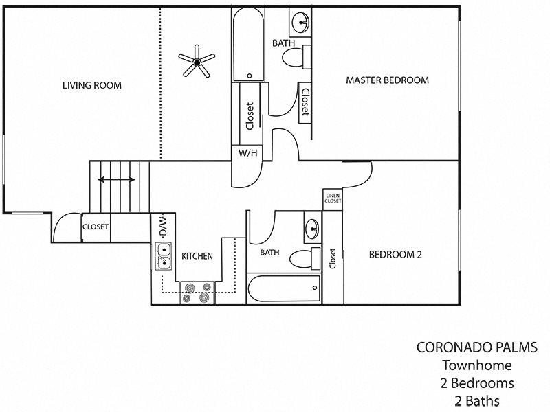 2x2TH Floor Plan 4