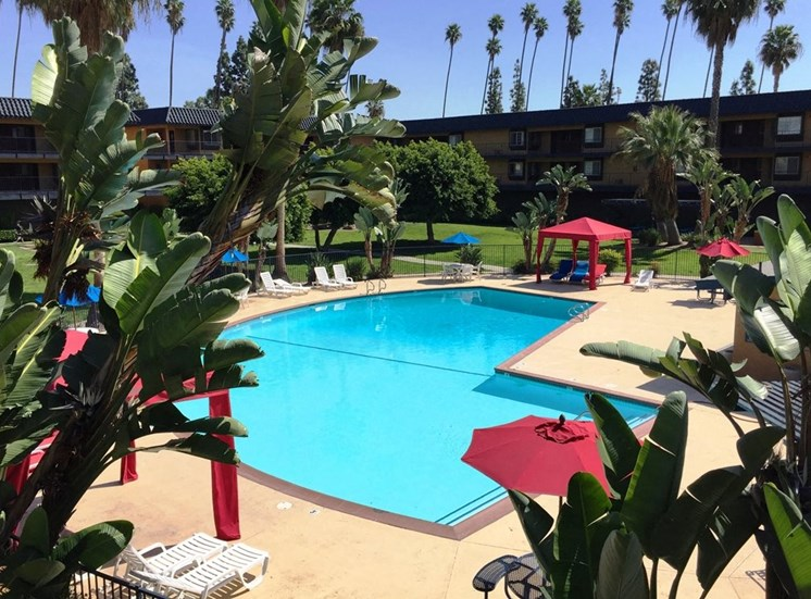 Apartments for Rent in Anaheim, CA - Coronado Palms Apartments Swimming Pool