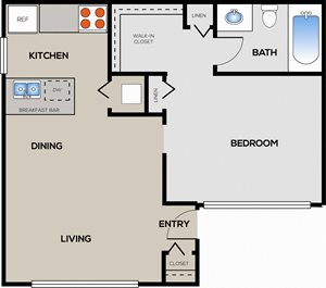 1 Bedroom 1 Bathroom A