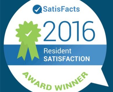 2016 Resident Satisfaction Award Winner
