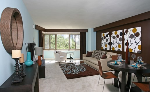 Living Room at 1350 Lake Shore Drive