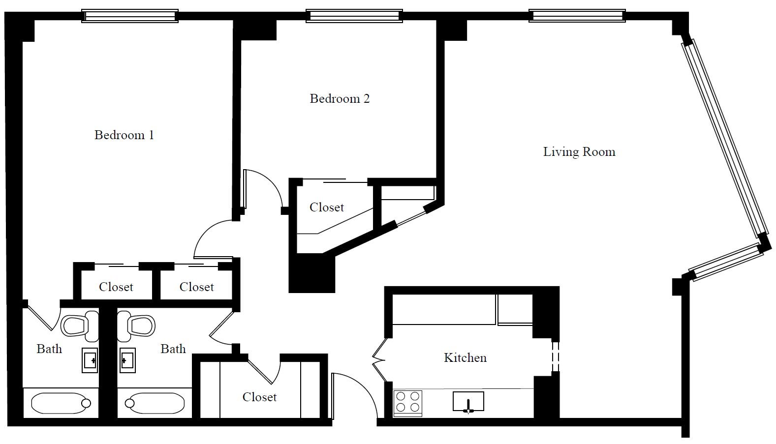 2 BR B Tier PH Floor Plan 10