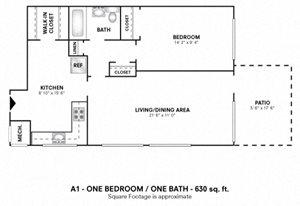 One Bedroom 1 Bath