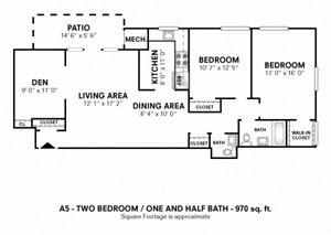 2 Bedroom with Den