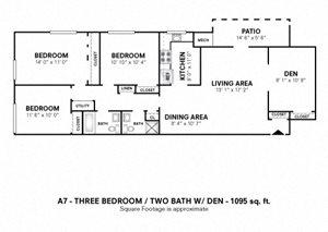 3 Bedroom with Den
