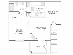 One Bedroom One Bathroom Floor Plan Picasso