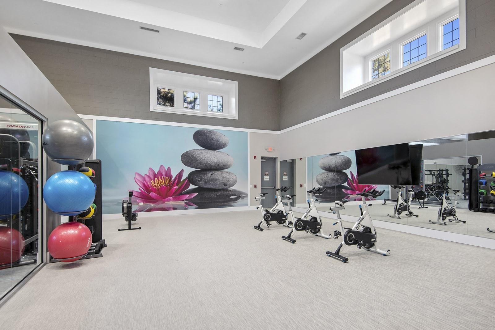 Yoga and fitness studio