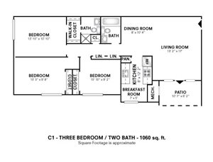 3 Bedroom with Den or Alcove