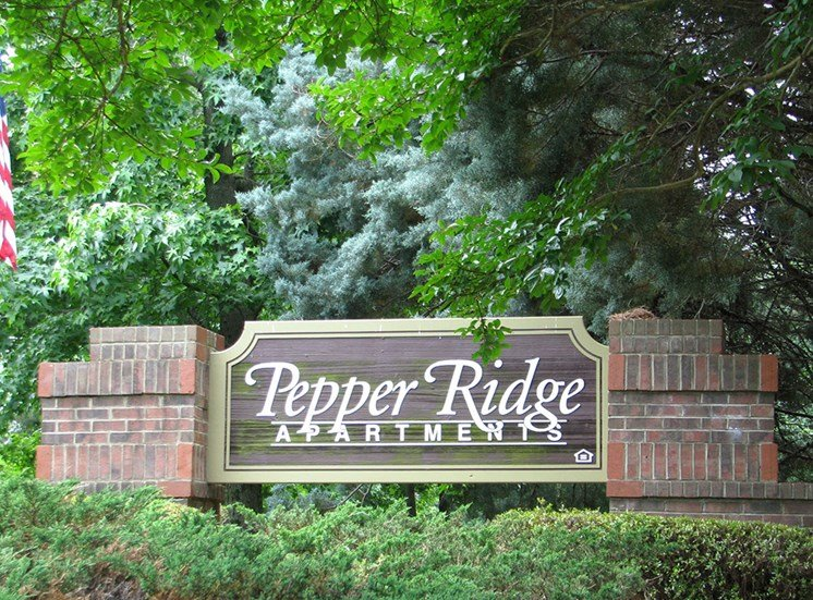 Sign at Pepper Ridge Apartments in Rock Hill SC