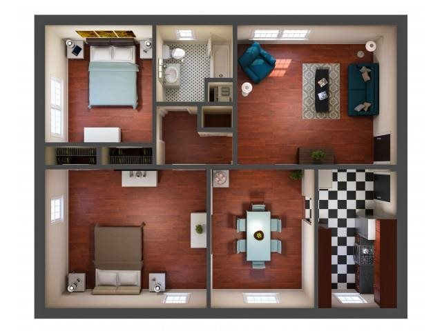Kensington Place - Two Bedroom Floor Plan 7