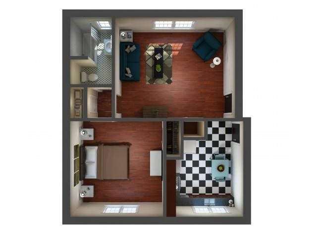 Kensington Place - One Bedroom Floor Plan 5