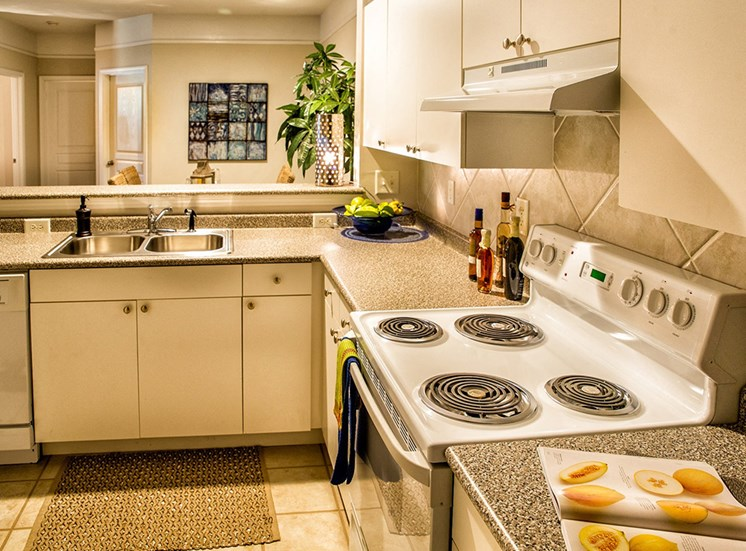 Kitchen at The Grove at Oakbrook Apartments in  Summerville