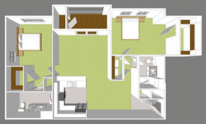 **New Construction** Two Bedroom Large