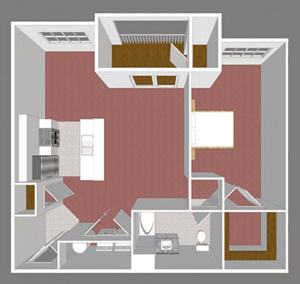 **New Construction** One Bedroom