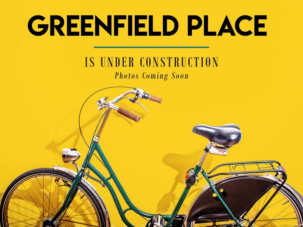 Bike and Greenfield Place Apartments  Sign