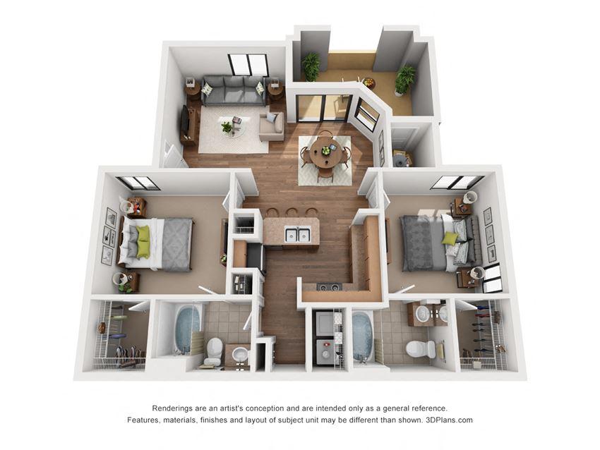 The Revello | 2 Bedroom 2 Bathroom Apartments in Avondale | 1,068 sq. ft.