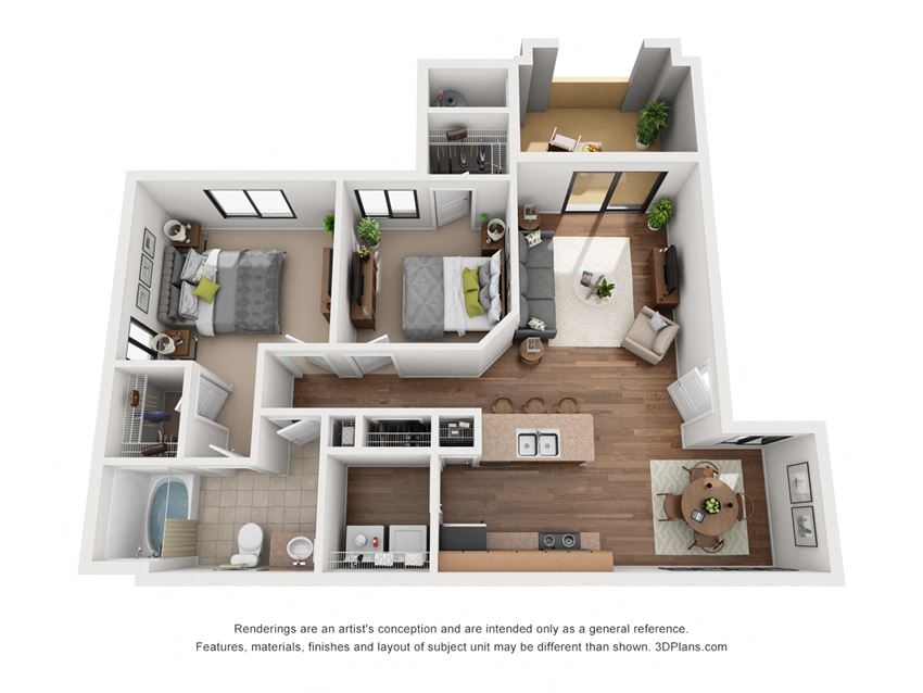 The Sorrento | 2 Bedroom 1 Bathroom 85323 Apartments | 964 sq. ft.