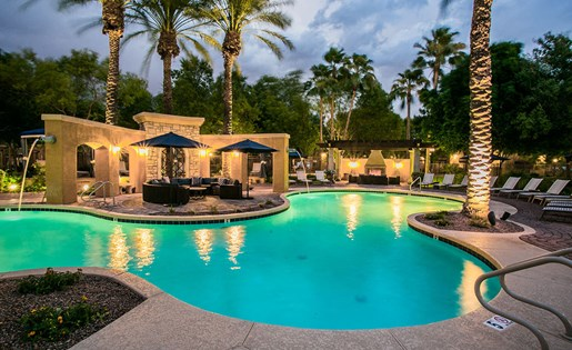 Waterford Square AZ Apartments with Private Pool Cabanas