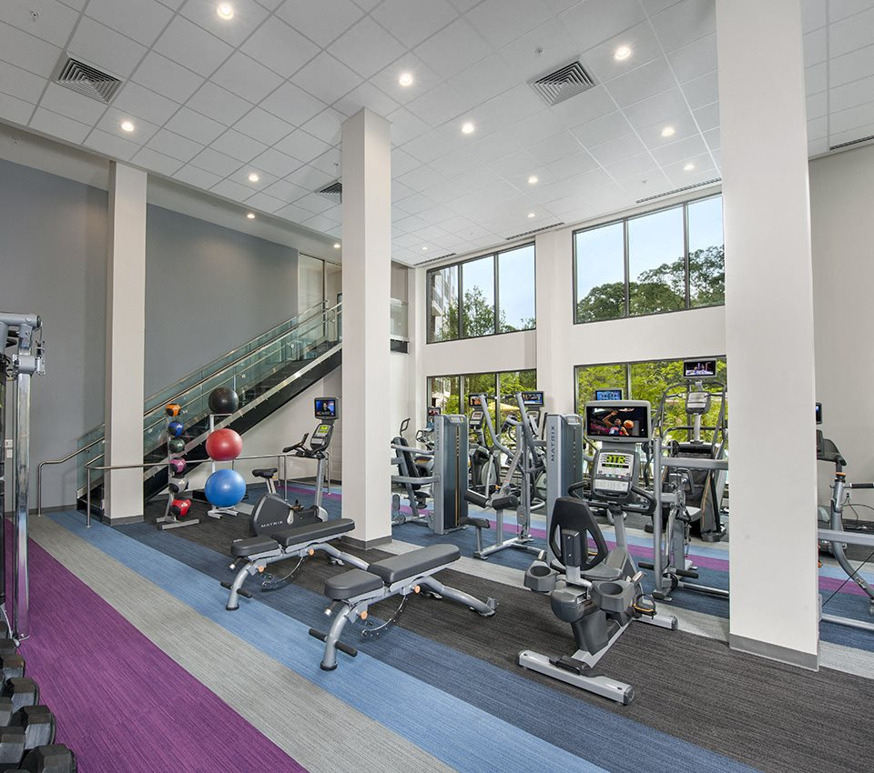 Image of the fitness center at city view vinings 30339