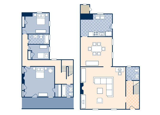 Coren Apartments 2105 Floor Plan 1