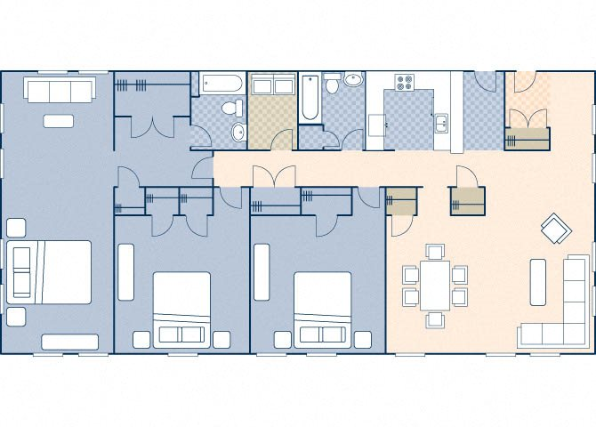 Young Hall 2202 Floor Plan 36