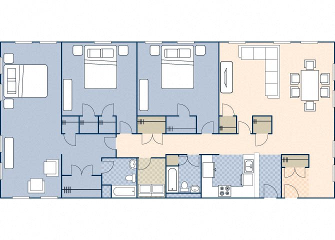 Young Hall 2205 Floor Plan 37