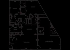 Penthouse 3x3.5 2500 SF