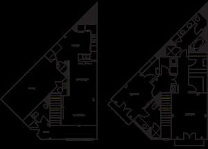 Townhome 2x2.5 1086-1087 SF