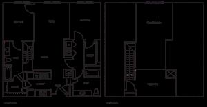 Loft 2x2 1104-1338 SF
