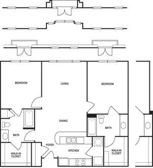 Loft 2x2 956-1420 SF