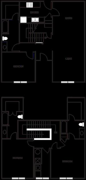Dual Level 3x3 1874 SF