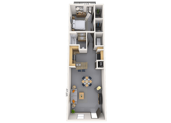 Loft 1x1 725 SF