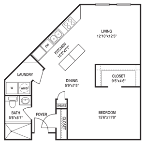 Loft 0x1 700-918 SF