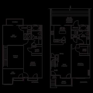 Dual Level 2x2 1650-1680 SF