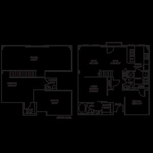 Loft 2x2.5 1353 SF