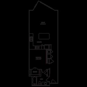Loft 1x1 888-937 SF