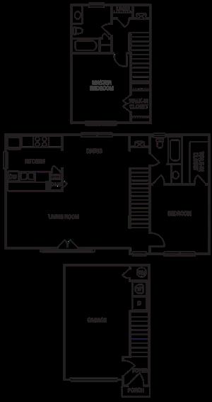 Carriage Home 2x2 1187 SF