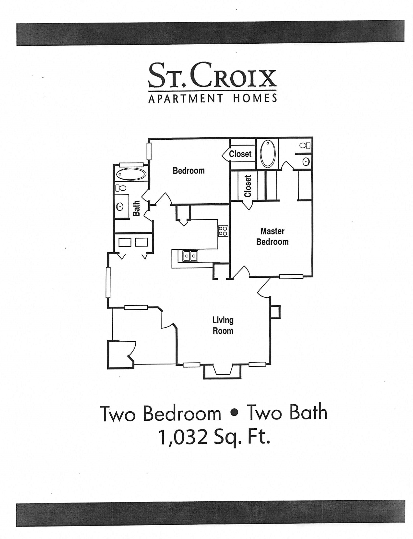 Floor Plan 1032 Sq Feet
