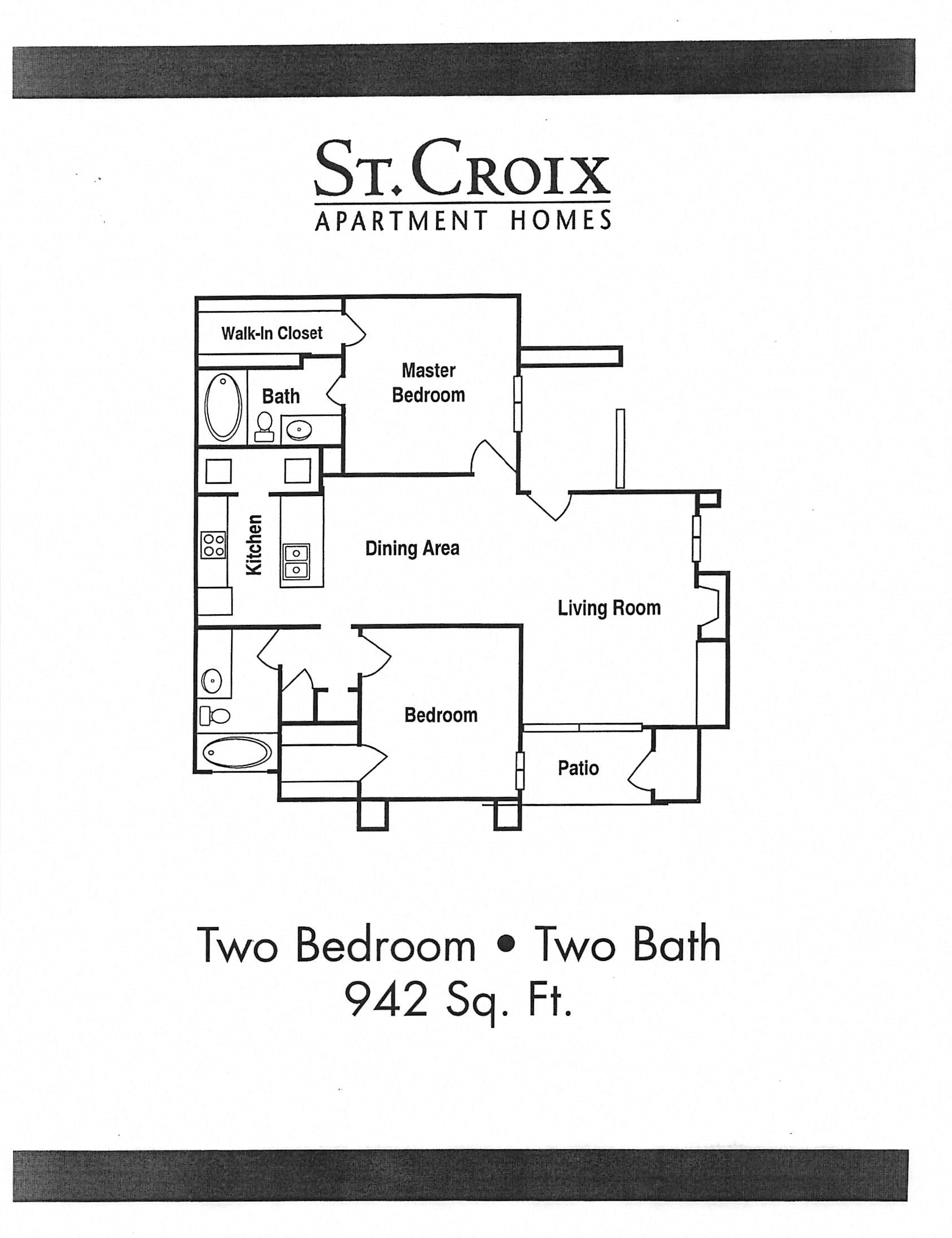 Floor Plan 942 Sq Feet