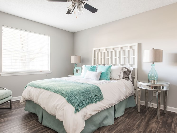 Wood Like Flooring, Hard Surface, Renovated Interior Bedroom at Echelon Park, McDonough, 30253