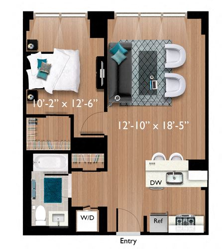 1 Bedroom/1 Bathroom (A03)