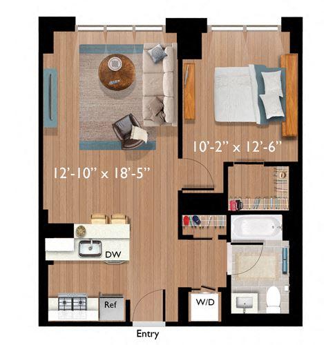 1 Bedroom/1 Bathroom (A06)