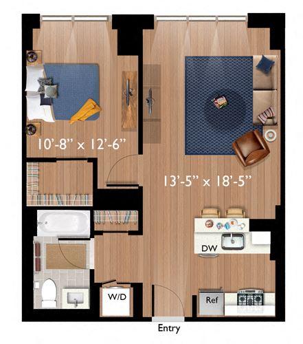 1 Bedroom/1 Bathroom (A07)