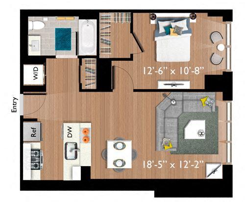 1 Bedroom/1 Bathroom (A09)