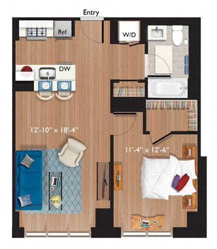 1 Bedroom/1 Bathroom (A11)