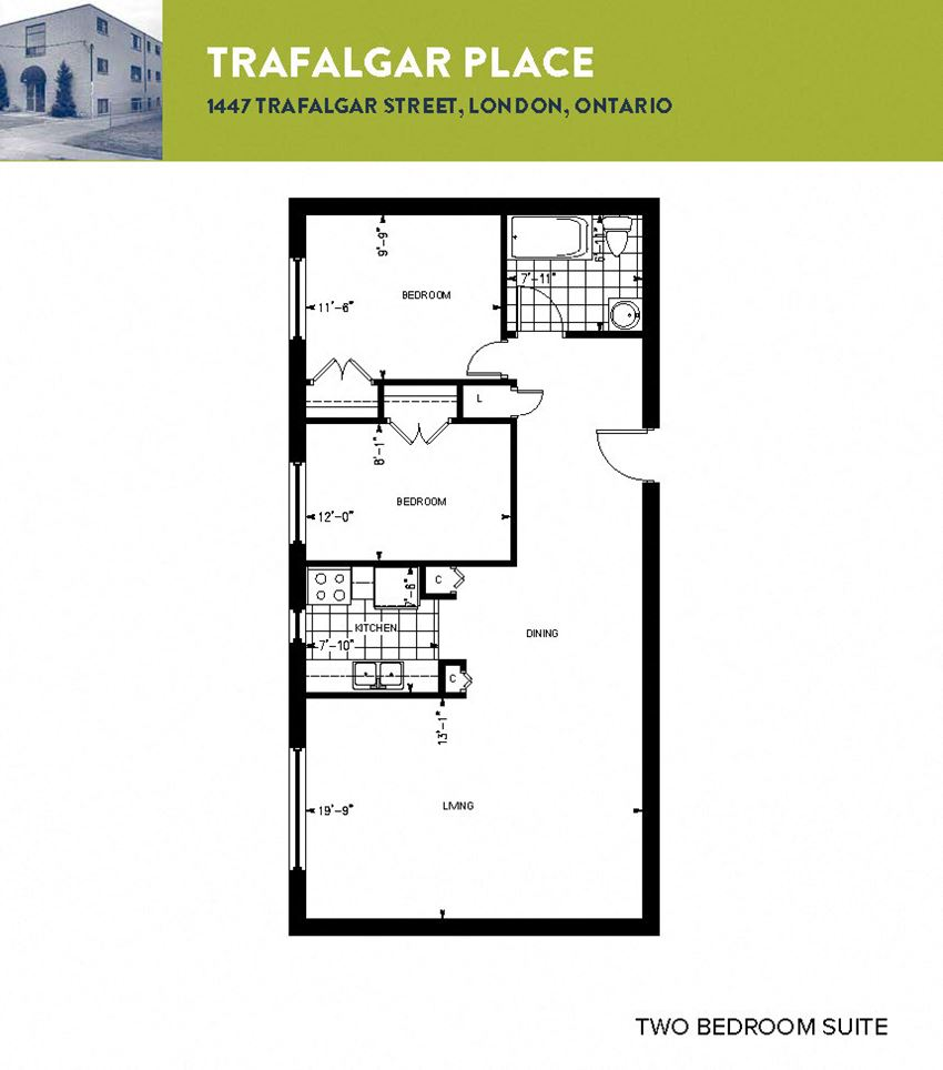 Typical 2 Bedroom Floor Plan