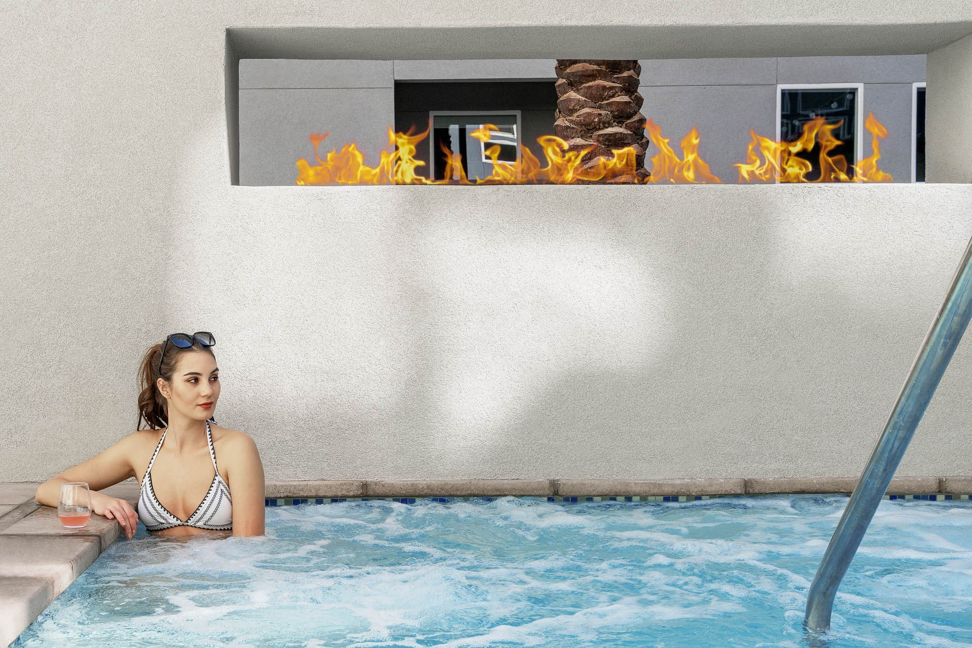 Spa with Fire Feature