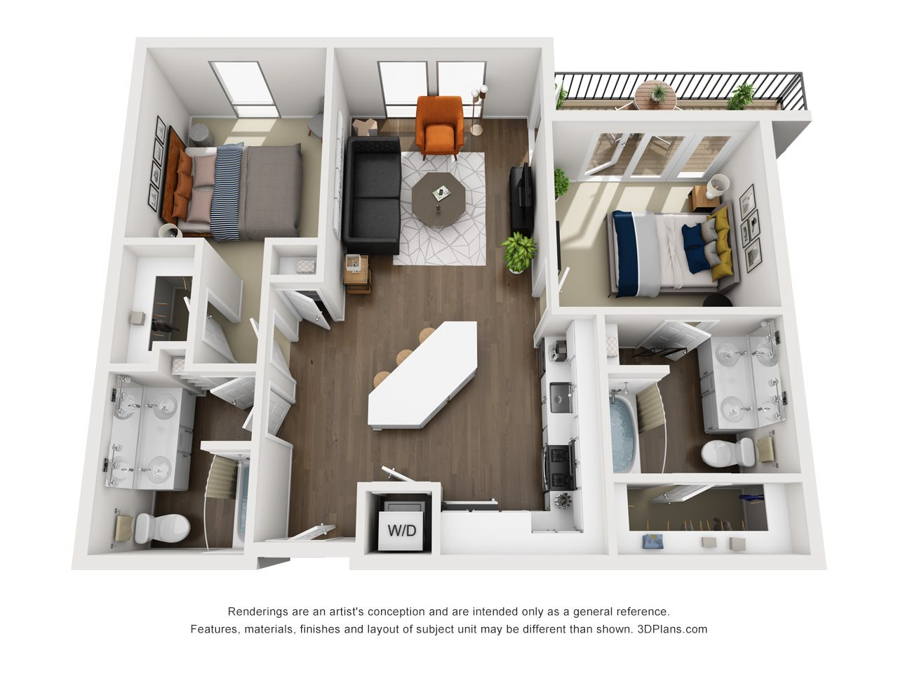 Floor plans of fremont9 in las vegas nv - 2 bedroom 2 bath apartments in las vegas ...