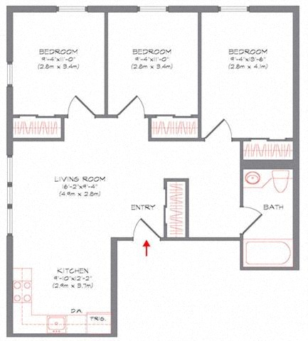 Floor Plans of 312 College Ave Apartments in Ithaca, NY