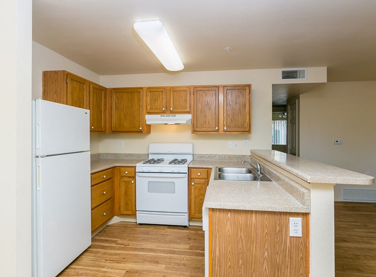 Two Bedroom One Bath Kitchen